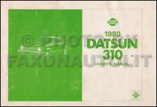 1980 Datsun 310 Owners Manual Original OEM Owner User Guide Book 310 N10 Series