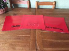 Ferrari Sales Brochures x 3 F40, 348, & Mondial FANTASTIC Present