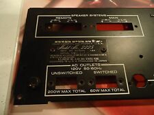 Marantz 2225 Stereo Receiver Parting Out Back Panel