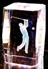 SALE-GOLFER 3D CRYSTAL WITH COLOR CHANGING STAND-NOT THE JUNK FROM GAS STATIONS