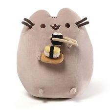 Gund PUSHEEN Cat Stuffed Snackable Plush Eating Sushi with Chopsticks NWT 9.5 in