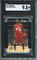 2003 Bowman Basketball #123 Lebron James Rookie Card RC Graded SGC MINT+ 9.5