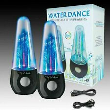 I-kool Original Water Dancing Speakers Super Charged Bass Works With USB Aux Pc