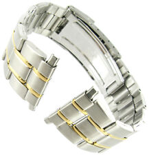 18-22mm Speidel Stainless Steel Two Tone Deployment Buckle Watch Band 1613/15