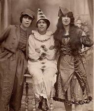 RPPC strong image 3 cute teens dress up costumes clown crossdressing halloween