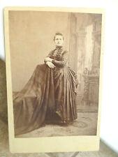 Antique Cabinet Photo Victorian Lady ID Alice Maynard Bustle Fashion LEONARD MI