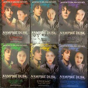 Pack of 6 Vampire Dusk Books by Sebastian Rook - London, Paris, Mexico, Outbbrea