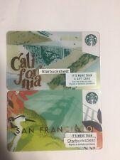 NEW STARBUCKS SAN FRANCISCO  2018 CITY GOLDEN GATE BRIDGE GIFT CARD MINT