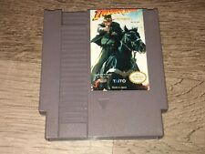 Indiana Jones and the Last Crusade Nintendo Nes Cleaned & Tested Authentic
