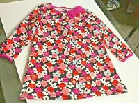 Gymboree Warm Tunic Top Long Sleeve Shirt Pink Coral Floral Toddler Girl Size 3T