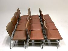 *12 Vintage Lloyd Pink Aluminum Mid Century Danish Modern Clam Dining Desk Chair