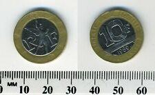 France 1989 - 10 Francs Bi-Metallic Pre-Euro Coin - Spirit of Bastille - ERROR