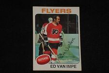 ED VAN IMPE 1975-76 TOPPS SIGNED AUTOGRAPHED CARD #38 PHILADELPHIA FLYERS