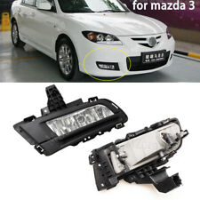 Left + Right Front Bumper Fog Driving Light Lamps For Mazda 3 2007 08 2009 9006