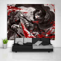 Attack on Titan Anime Tapestry Art Wall Hanging Sofa Table Bed Cover Poster