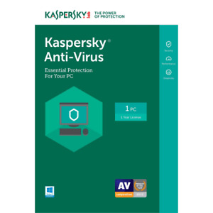 Kaspersky Antivirus - 2021 - 1 PC - 1 Year - License Key - Americas - Windows