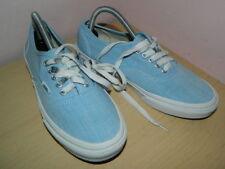 unisex Vans light blue textile lace up plimsolls trainers uk 5 eur 38