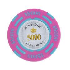 10x Casino Poker divertente Chips Chips 5000 Dollar Denominazione Etichetta