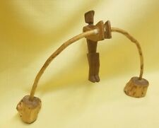 Folk Art Primitive Balancing Man Hand Carved Vintage