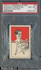 1947 D Cummings & Son Famous Fighters Boxing #9 Georges Carpentier PSA 8 NM-MT