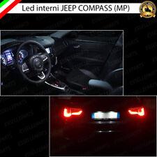 KIT LED INTERNI + TARGA JEEP COMPASS MP KIT COMPLETO CANBUS 6000K NO AVARIA LUCI