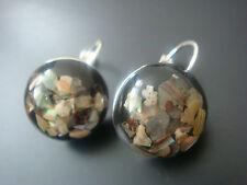 Versilberte Runde Modeschmuck-Ohrschmuck mit Perle