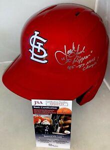 Jack Clark signed St. Louis Cardinals F/S Batting Helmet autographed W/ Insc JSA