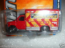 MATCHBOX MBX Seires  Ford E-350 Super Duty Ambulance    Red and Yellow