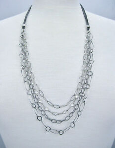 """Silpada 925 Sterling Silver Everlasting 28"""" Multi Strand Suede Necklace N2302"""