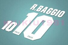 Italy Baggio #10 1994-1996 Homekit Nameset Printing