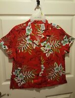 HAWAIIAN SHIRT~WOMEN'S~EXCELLENT QUALITY~LARGE~A MUST HAVE FOR YOUR WARDROBE!!