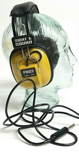 Vintage Headphones Sight & Sound Pro 3 Pro3 Japan Stereo Mono Organ Dynamic READ