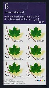 Canada 2014a Booklet BK283 MNH Green Maple leaf on Twig