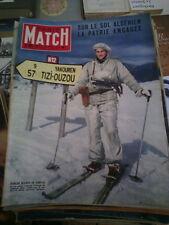 Paris Match n°361 10 mars 1956 chasseurs alpins en Algérie casino monaco