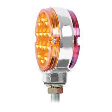 """14 LED Double Face Light (3"""" ) Red /Amber    SEMI TRUCK FENDER"""