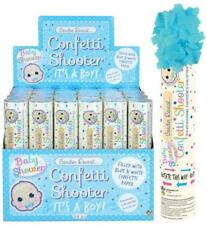 GENDER REVEAL CONFETTI SHOOTER ITS A BOY BABY SHOWER PAPER BIODEGRADABLE PARTY