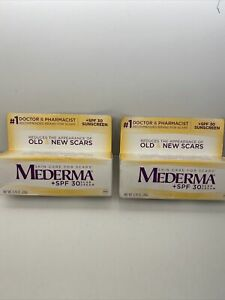 (Lot of 2) MEDERMA SPF 30 Scar Cream SEALED 0.70 oz / 20g,. Exp 01/2023