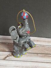 Circus Ornament Elephant Standing Up Balancing Ball Hat Rug On Back Music Box