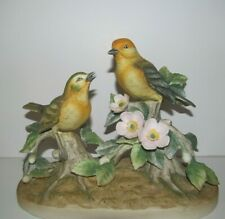 Warbler by Andrea by Sadek - Bird Figurine - Two Birds - Damaged & Repaired