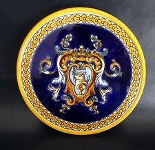 French Antique Gien Majolica/Faïence Round Trivet Renaissance Pattern