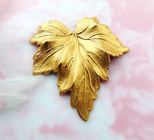 BRASS (2 Pieces) Woodland LEAF Stamping - Jewelry Finding (FB-6039-667)