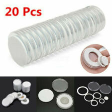 20Pcs 46mm Clear Coin Capsule Round Plastic Holder Container Storage Box Case