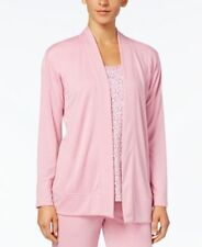 Charter Club Open-Front Knit Pajama Cardiga Orchid Smoke XS