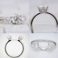 Stone Engagement Ring 14K White Gold 3.50Ct Round Cut Moissanite Diamond 3