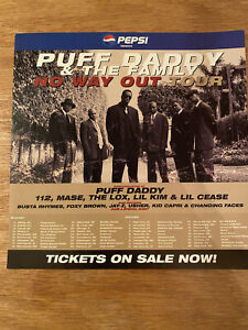 Puff Daddy- No Way Out Tour sticker. Pepsi promo