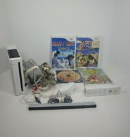 Nintendo Wii Console with Wiimote Controller, Nunchuck, Sensor, 4 Games Tested