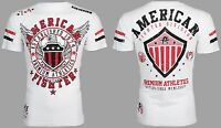 AMERICAN FIGHTER Mens T-Shirt EXCELSIOR Eagle WHITE Athletic Biker Gym UFC $40