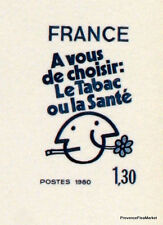 LE TABAC OU LA SANTE   FRANCE Document Philatélique Officiel  1080