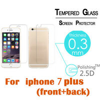 Premium Real Front+Back Tempered Glass Film Screen Protector For iPhone 7 7 Plus