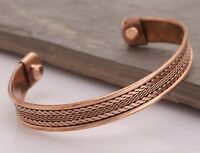 Tibetan Copper Adjustable Bracelet Cuff Wristlet Wrist Band Luck - Men Women